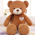 Custom toy with bowknot soft plush giant teddy bear