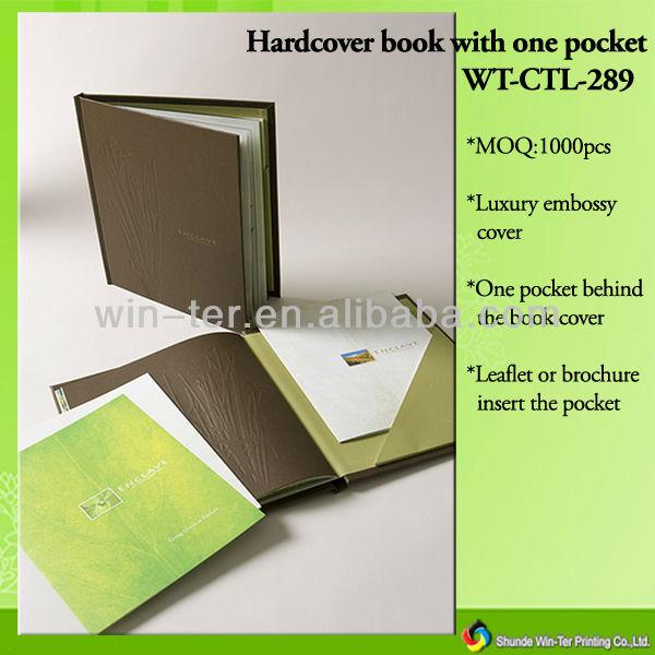 Wt-ctl-289 Hardcover Menu Book Printing