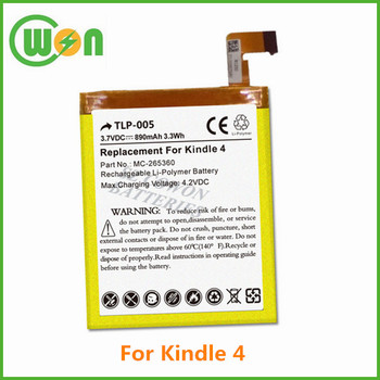 Replacement Battery For Amazon Kindle 4 5 6 4g Wifi D01100 515-1058-01  D01100 Mc-265360 4th 5th 6th Generation 3 7v 890mah - Buy Battery For  Amazon