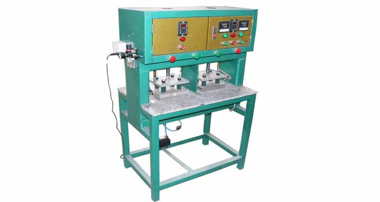 Heat press machine for double heads pvc products
