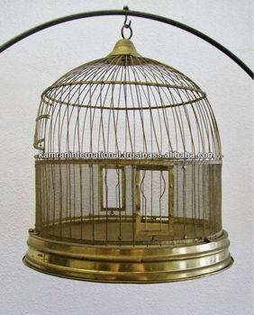 Antique Brass Bird Cage Round Bird Cage Hand Made Bird