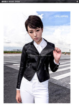 2017 latest fashion women motorcycle short leather jackets