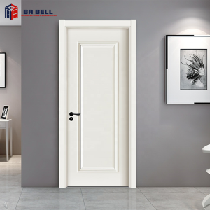 New design MDF painting ecological single wooden door design