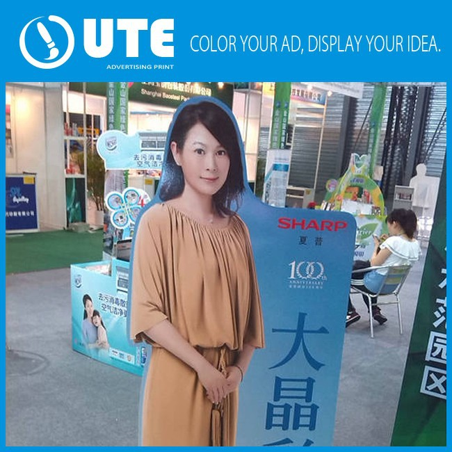 Supermarket advertising custom lifesize signs forex stand wholesale