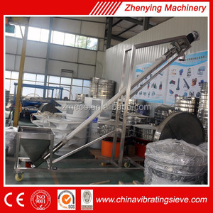 Small incline grain auger /screw conveyor for powder