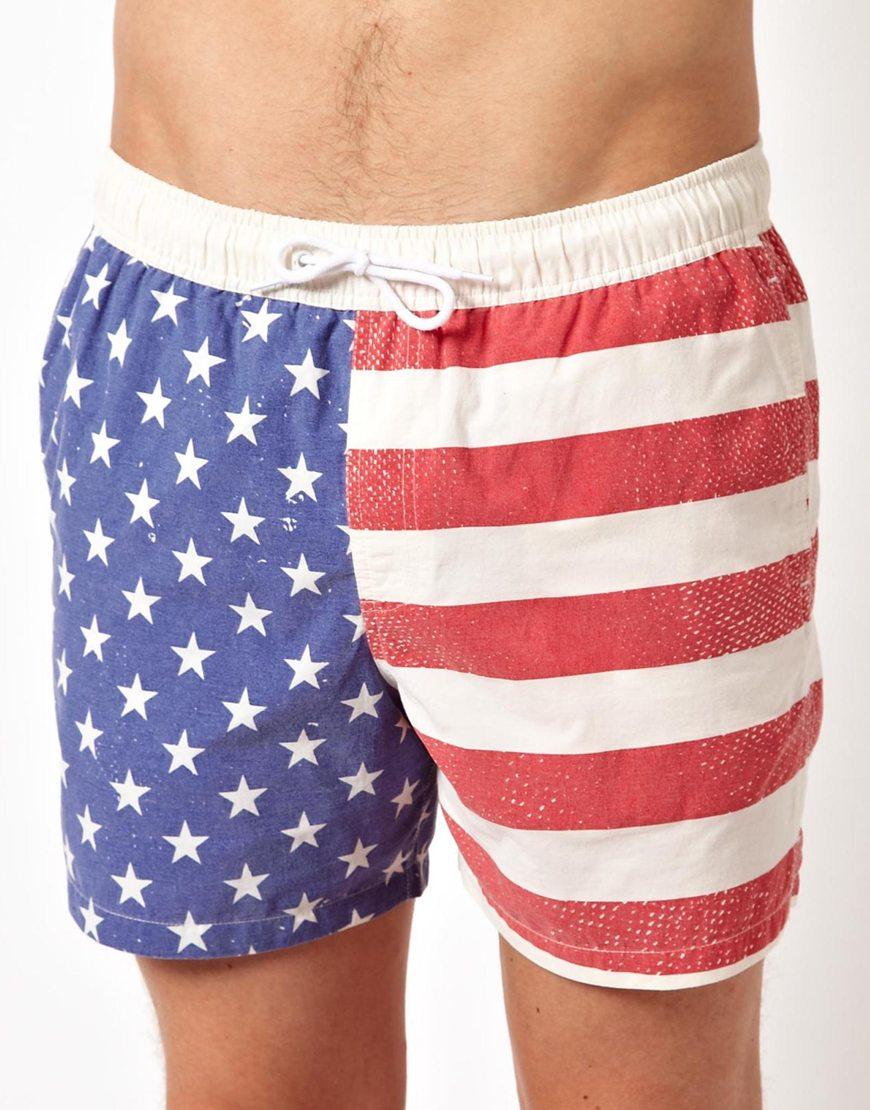 9c962cdd9b men's USA flag print swimming shorts boardshort surf shorts beach shorts