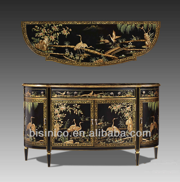 Antique Chinoiserie Style Wooden Decorative Furniture,Floral Hand Painted  Console Table,Sideboard,Storage Cabinet   Buy Antique Wood Carved Console  Table ...