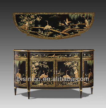 Antique Chinoiserie Style Wooden Decorative Furniture Fl Hand Painted Console Table Sideboard Storage
