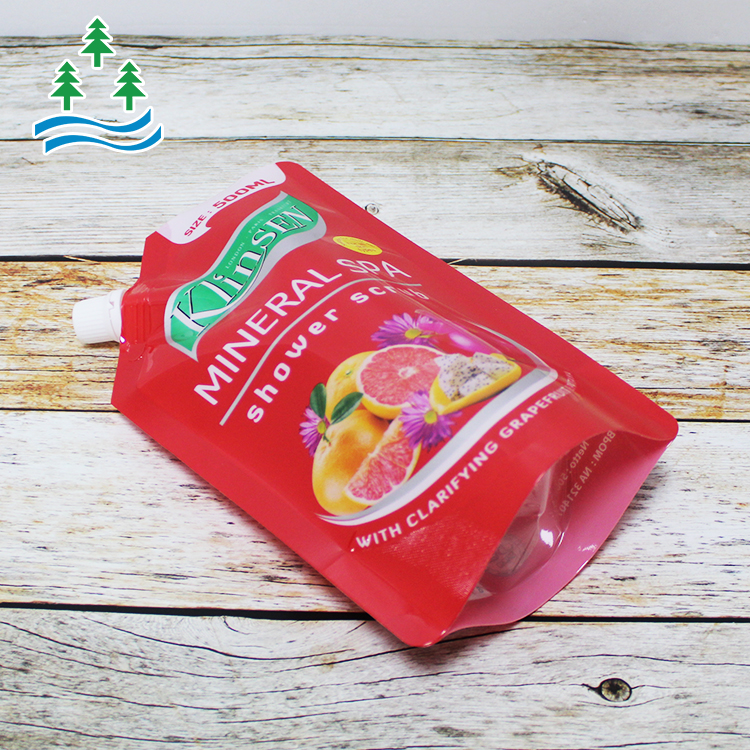 Manufacturer Customized Food Grade Stand Up Spout Pouch Tomato Sauce Juice Drink Packaging Bags