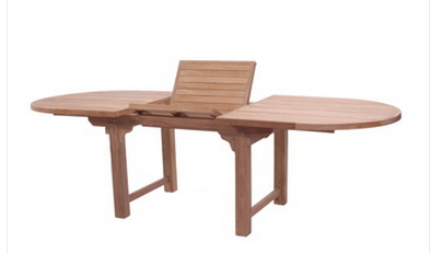Outdoor wooden furniture wood style oval Ext table