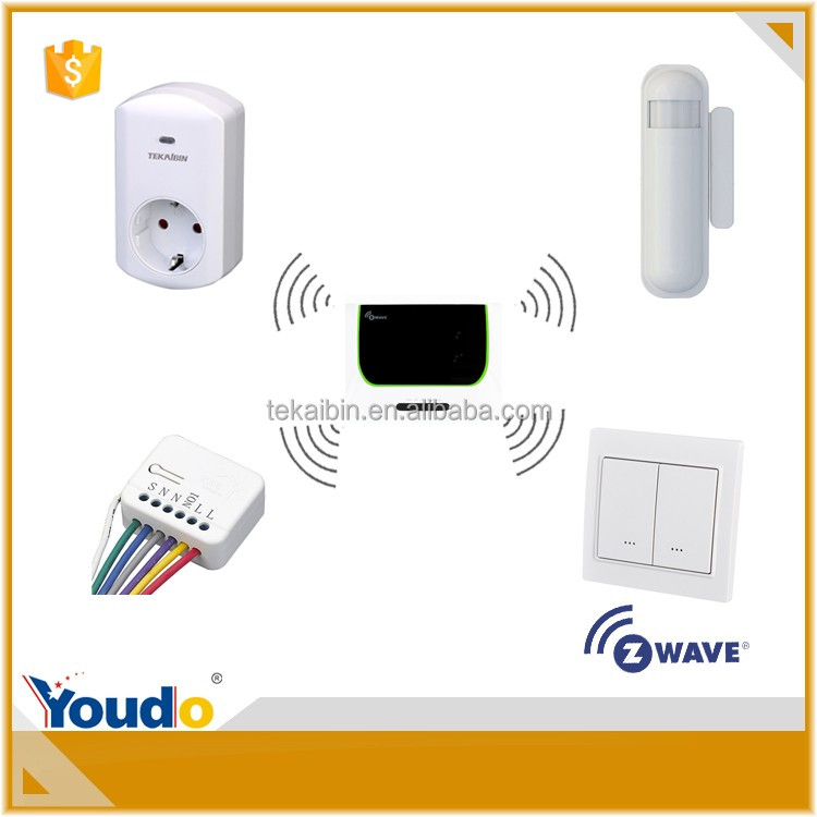 One set include five pieces of smart home alarm wifi z-wave relay