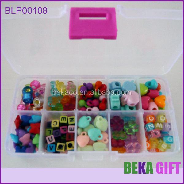 Hot Educational Toy Kids Diy Plastic Cartoon Le Shaped Beads Kit Make Your Own Name Bracelet