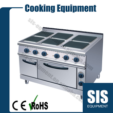 Commercial Electric 6 Plates Cooker With Oven (Square) In China