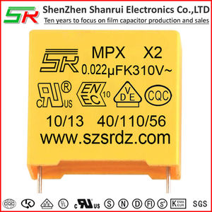 Polypropylene safe capacitor X2 noise suppression capacitor