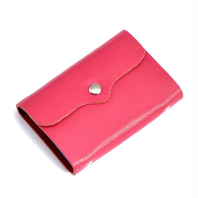 New Fashion Credit Card Holder 26 Pieces Card Holder Business Card Holder Candy Color Genuine Leather Card Holders Big Capacity