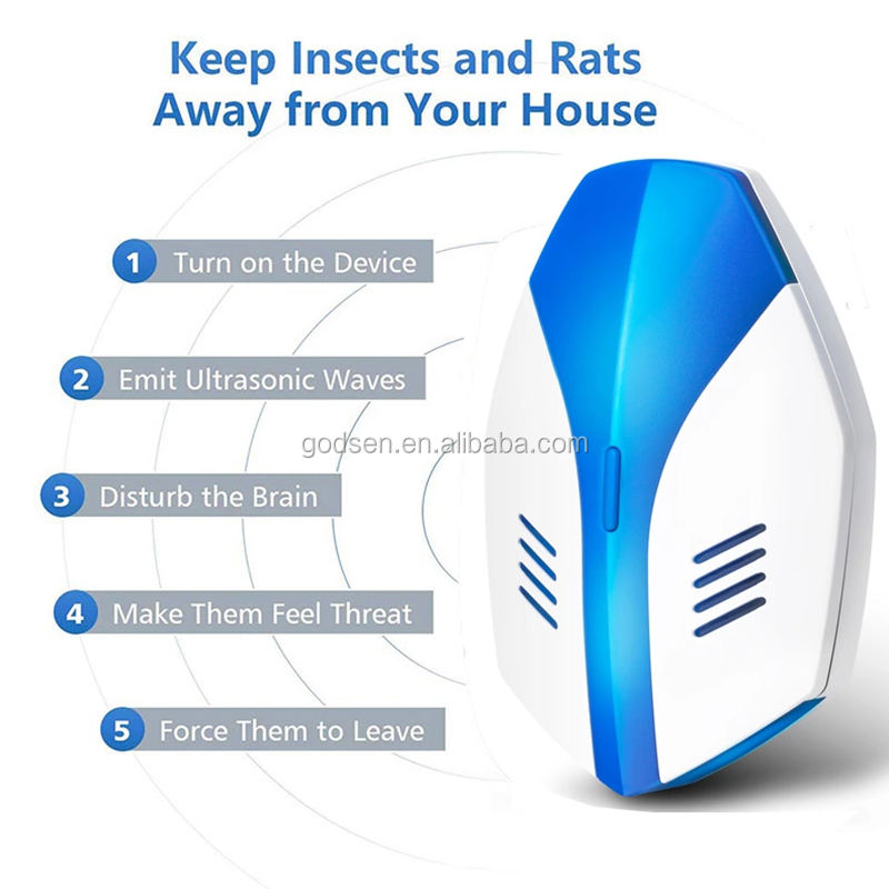 2019 pest reject mosquito repeller machine ultrasonic electronic mouse repelling