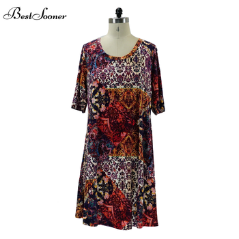 Casual All Over African Print Short Sleeve Plus Size Dress Office Summer  Maternity Dress Summer - Buy Maternity Dress Summer,All Over Print ...