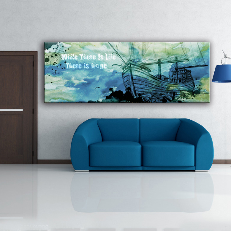 Most popular printed blue canvas art wall painting with favourable price