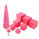 Montessori Material Sensorial Pink Tower Educational Wooden Toys For Kids