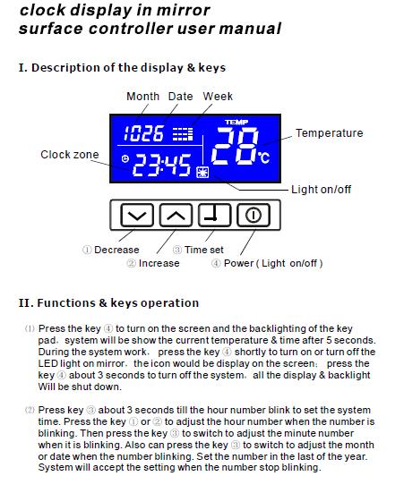 o interruptor customizável do sensor do toque dos espetáculos para o espelho conduziu a iluminação 12v 24v