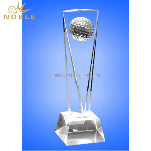 Sports Awards and Trophies Crystal Golf Trophy