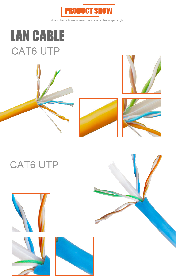 Standard 305m Owire Cat 6 Network Cable Utp Buy Cat6 Wiring Diagram