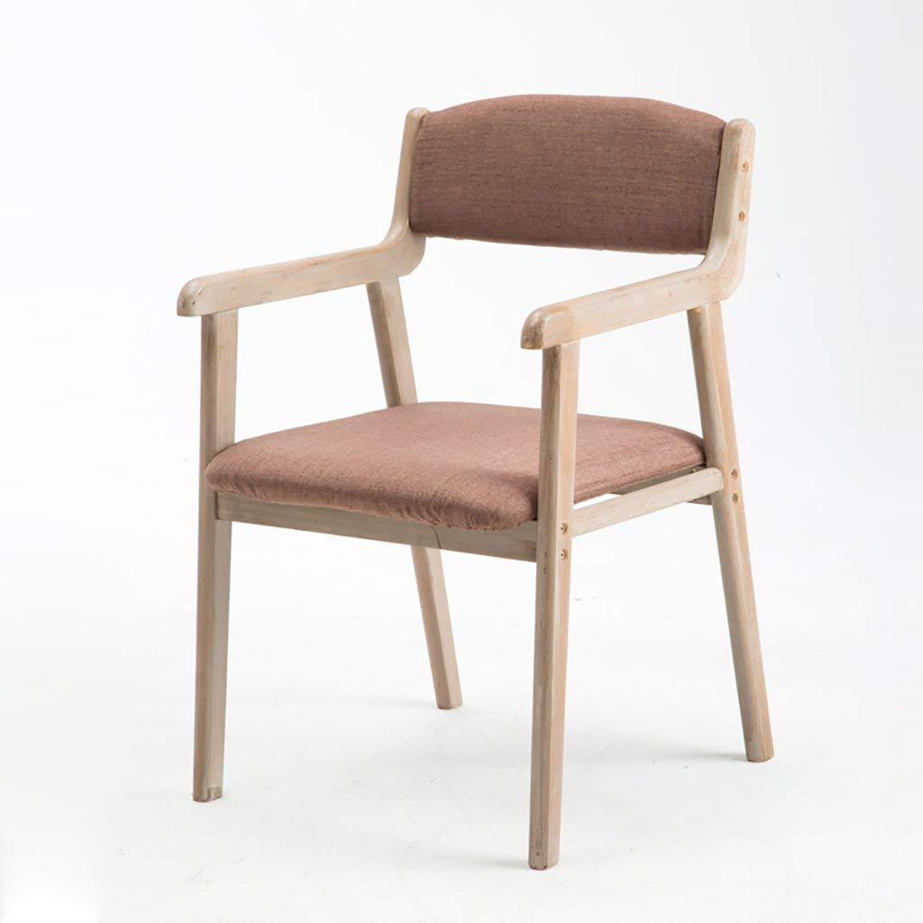 Vintage Simple Fabric Dining Chair Leisure Chair Solid Wood Business Meeting Chairs Negotiation Chair Study Room Desk Chairs Computer Chairs (Color : I)