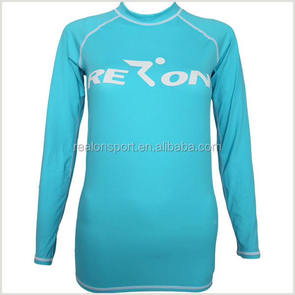 professional customized lycra rash guards surf shirt