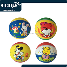 Hot Sale Size 3 Colorful Cheap Inflatable Rubber Basketball for Children Christmas Gifts