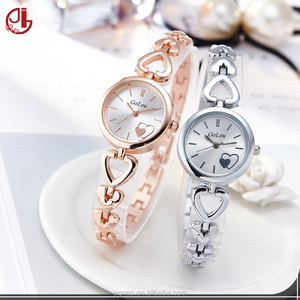 Simple Love Pattern Dial Heart Shape Bracelet Watches Women Fashion Watch 2018 Skeleton Pointer Quartz Wrist Watch Woman