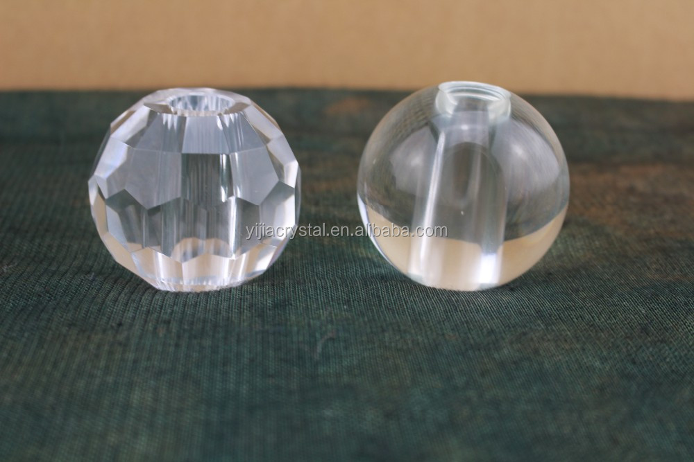 60mm Clear Crystal Glass Etched/Round Balls With Holes for Decorations Fitting,Cheap Shining Crystal Hole Ball For Lamp Lighting