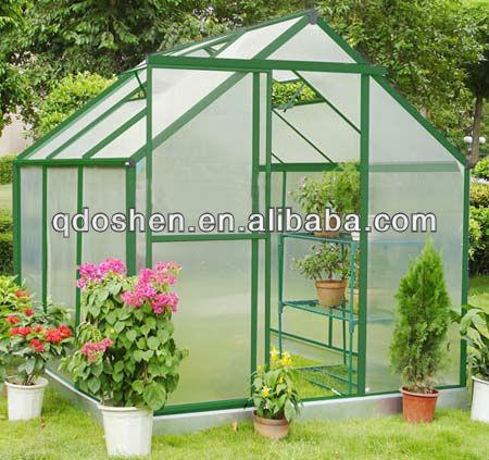 De aluminio de efecto invernadero casa verde invernaderos - Invernadero para casa ...