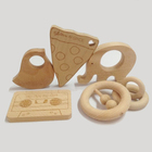 AS/NZS 8124 Certified Organic Baby Teethers Wood Teething Toys For Baby Chewing Toys Nurse Gift