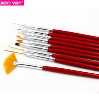 9pcs/set Nail Styling Tools Painting Dotting Nail Pen Brush Set #4713