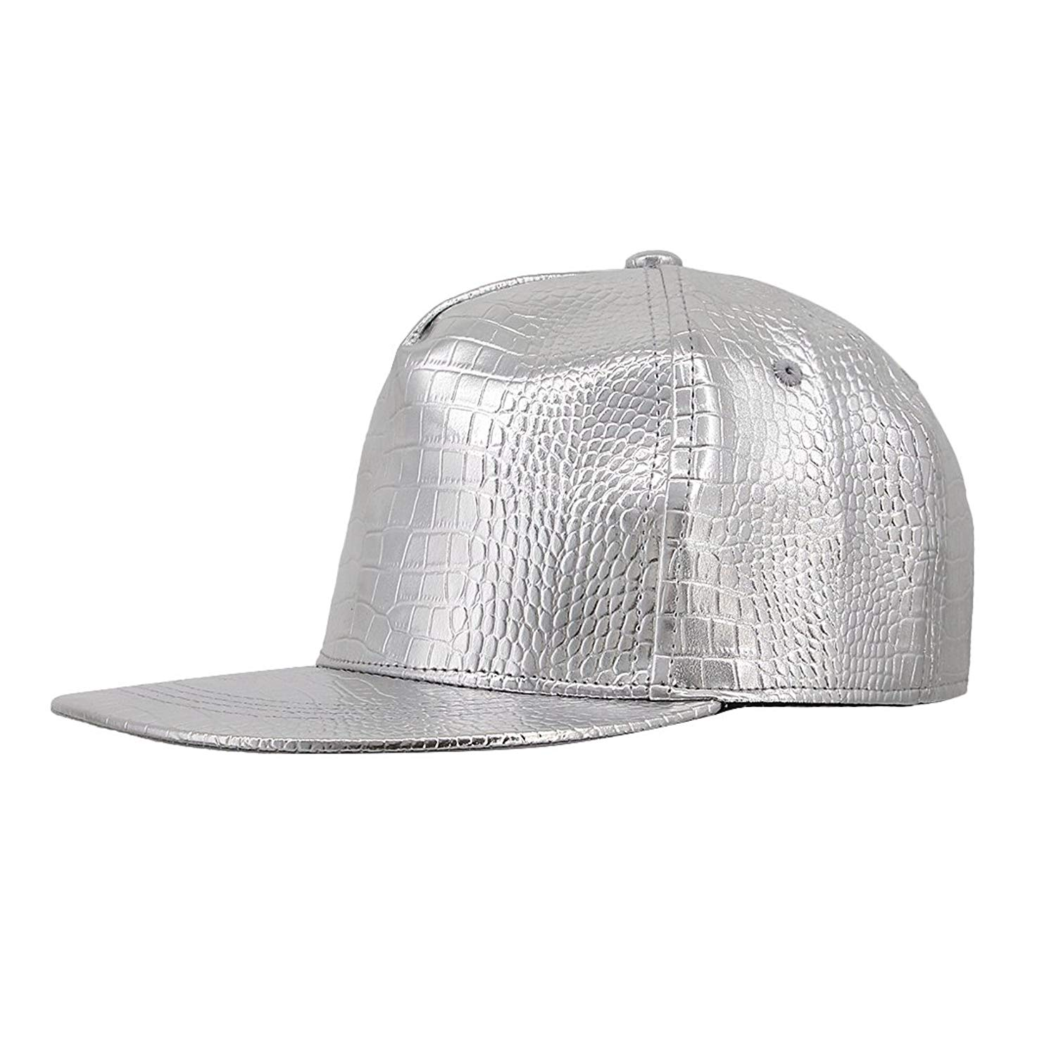 Get Quotations · Naimo Shiny Cool Metallic Adjustable Strap Baseball Cap  Cotton Casual Cap 05f71b728ab