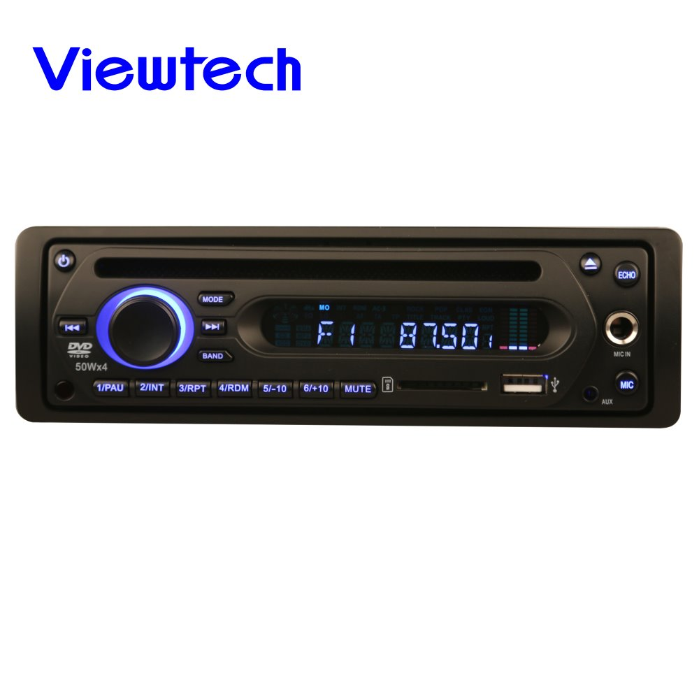Single din dc24v bus dvd player with mic jack and FM