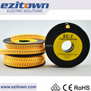 EC-J series Standard Markings Flat Tubing Type Price Of Anti Acid Customized Color Electrical Tube PVC Cable Marker