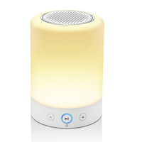 portable bt wireless speaker led light with music player
