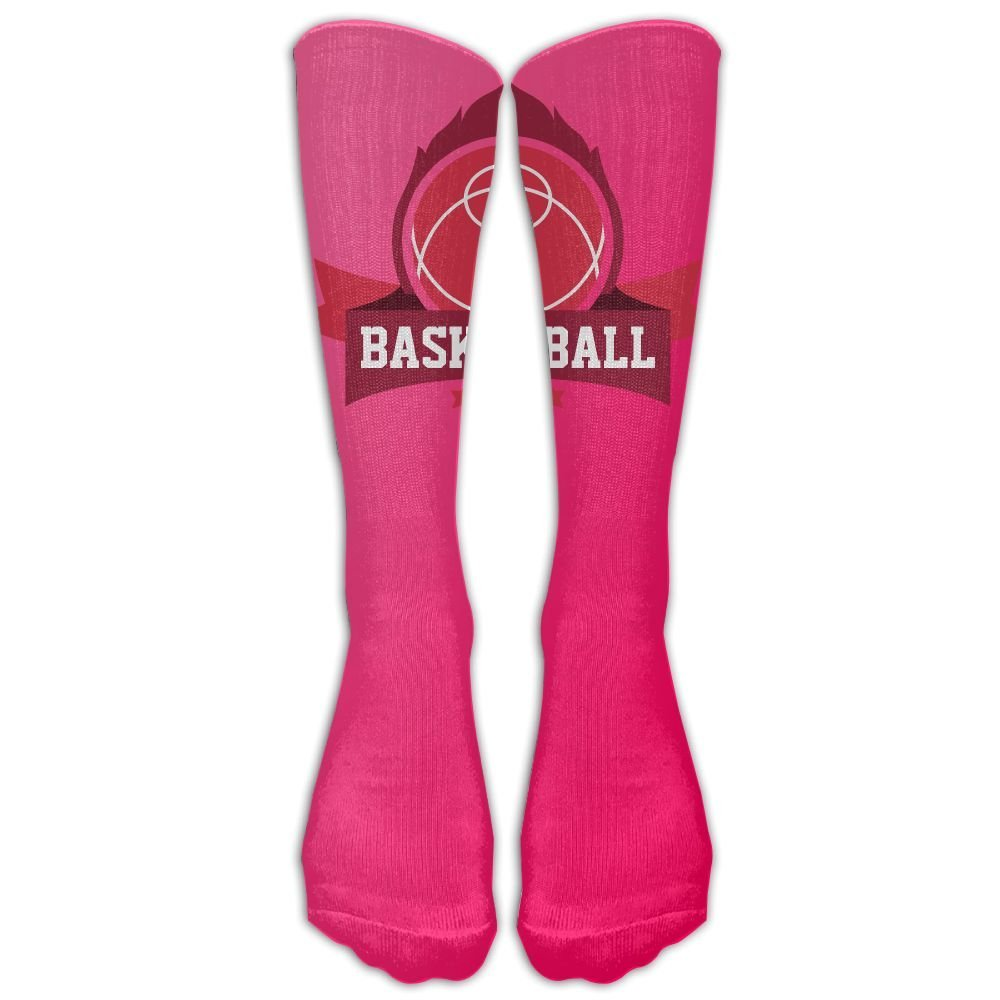 d88a75be1b7 Get Quotations · Cool Basketball Design Hot Pink Stockings Long Tube Socks