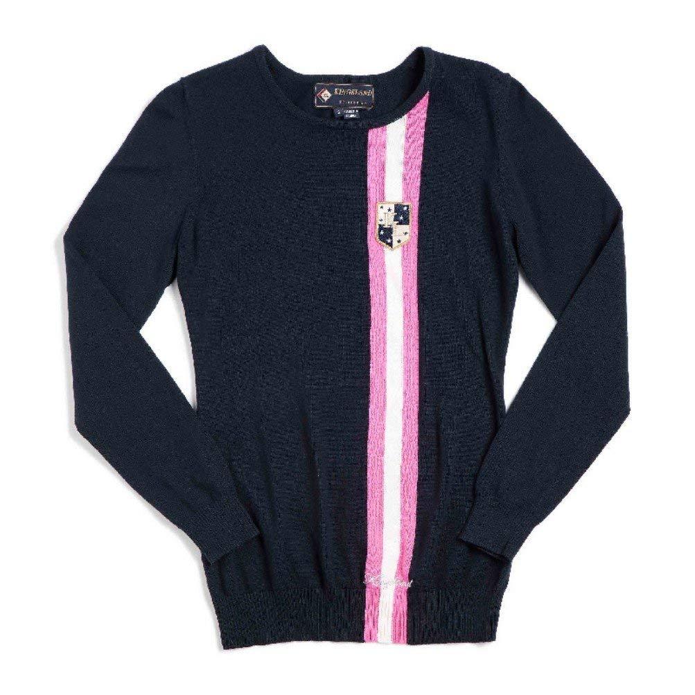 Kingsland Equestrian Women's Gilroy 100% Cotton Roundneck sweater-Navy