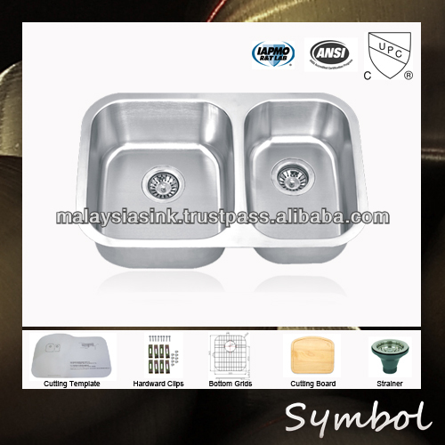 American Style Stainless Steel Kitchen Sink With Undermount Sink Clips
