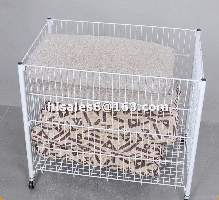 Metal Wire Folding Rack Supermarket Dump Bin