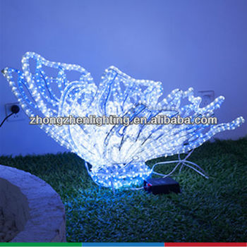 Outdoor Christmas Display Butterfly Sculpture Rope Light Motif