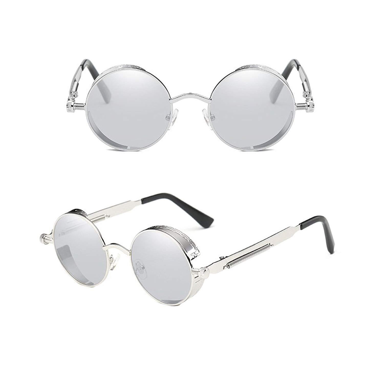 Youtato Classic Polarized Sunglasses Fashion Mirror Lens Metal Frame UV400