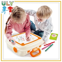 Magnetic drawing board with learning tools,portrble suitcase printing