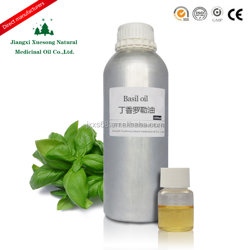 100% Natural basil oil have strong beauty and personal care function with bulk sale