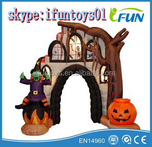 inflatable ghost arch black for helloween / inflatable black ghost arch helloween party / inflatable ghost archway for helloween
