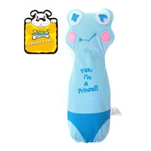 Stocked Pet Products Squeaky Dog Plush Chew Toys with Crunchy Sound Long Ear Rabbit Funny Frog Stuffed Animals Beep Bottle