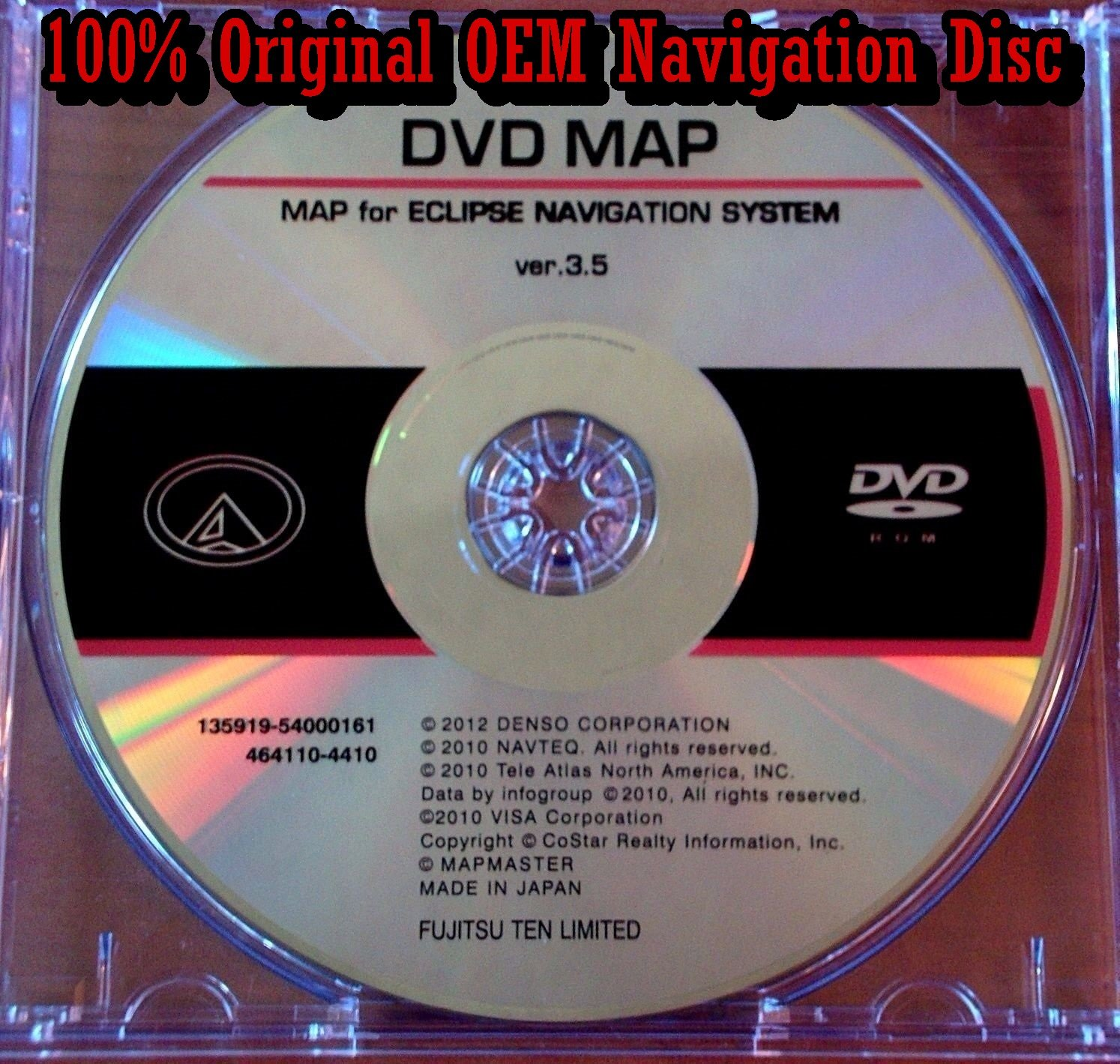 Buy MDV-82D Eclipse Navigation Map Update DVD version 3 5