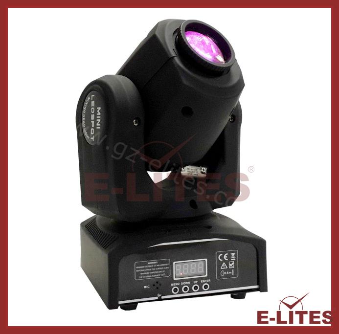 Mini Led Spot Moving Head 10w Spot Light Gobo Projector